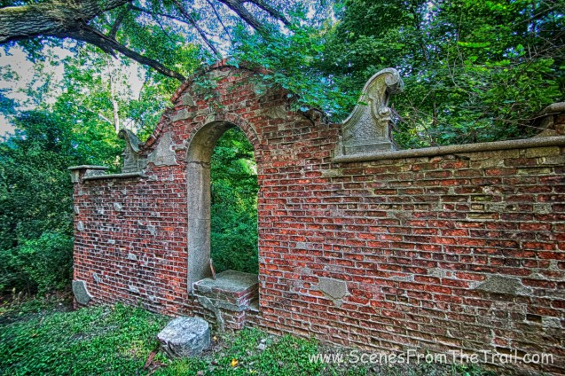 other side of wall with arch entry