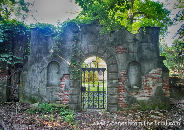gate that leads to the grounds of Alder Manor