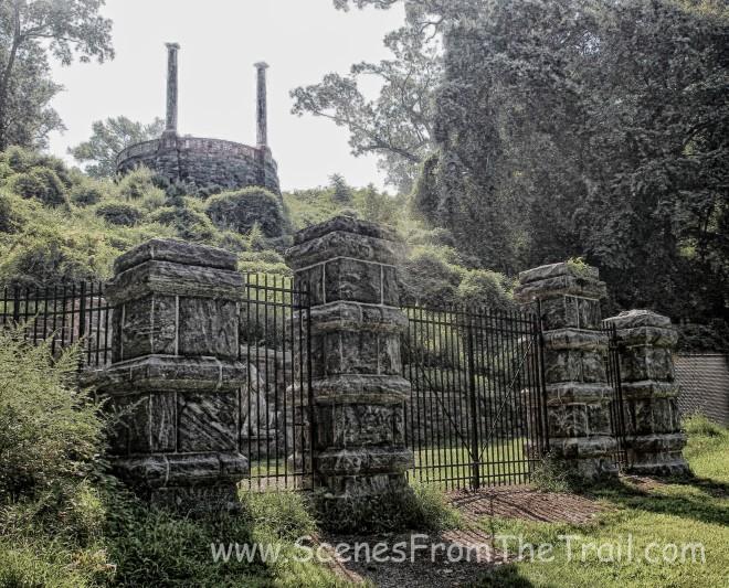 rear gate of Untermyer Park