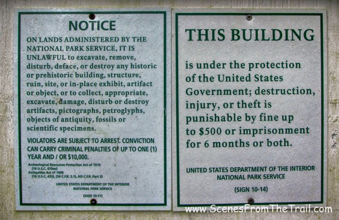 signs seen on many of the abandoned buildings