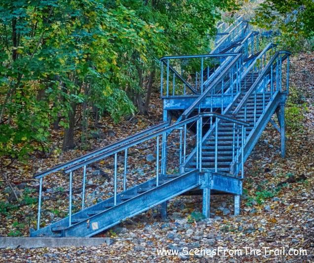 giant metal staircase