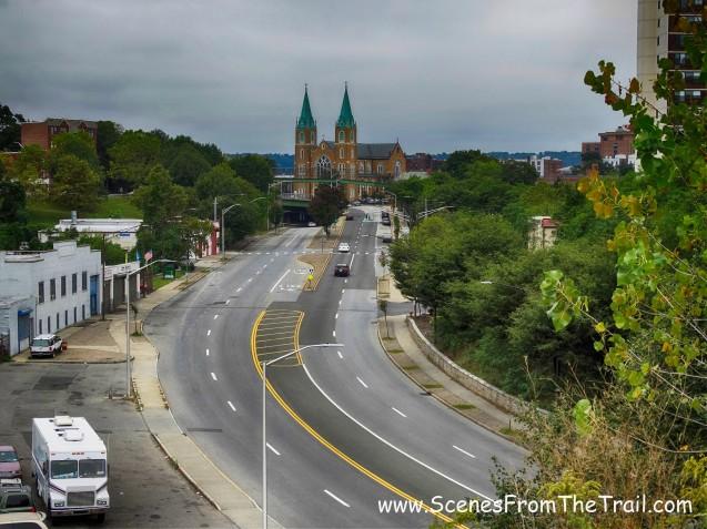Nepperhan Avenue from the pedestrian bridge