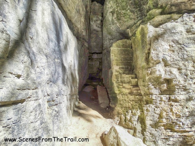 Indian Ladder Trail cave