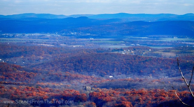 view East on the Appalachian Trail