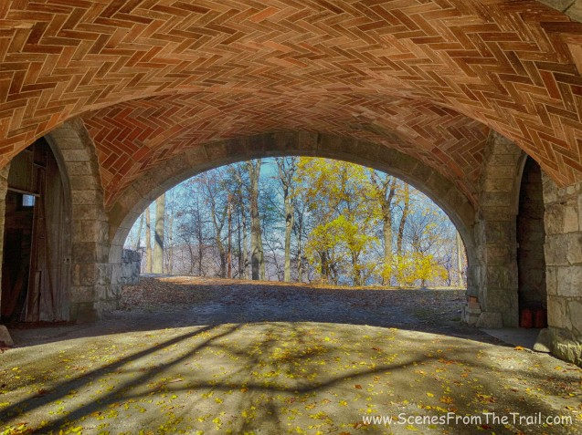 underneath the arch bridge