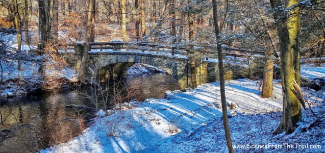 stone bridge spanning the Pocantico River