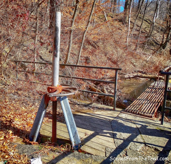 relief valve and iron catwalk