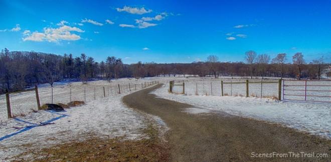 fenced off fields