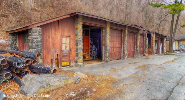 dilapidated garages