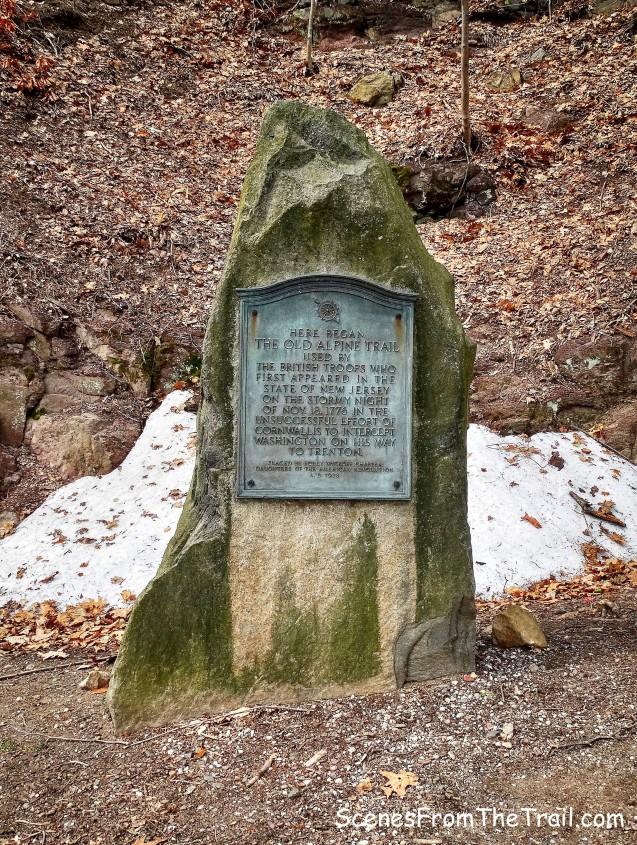 Old Alpine Trail plaque