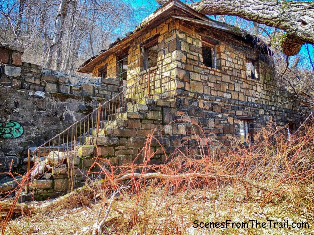 abandoned stone park building