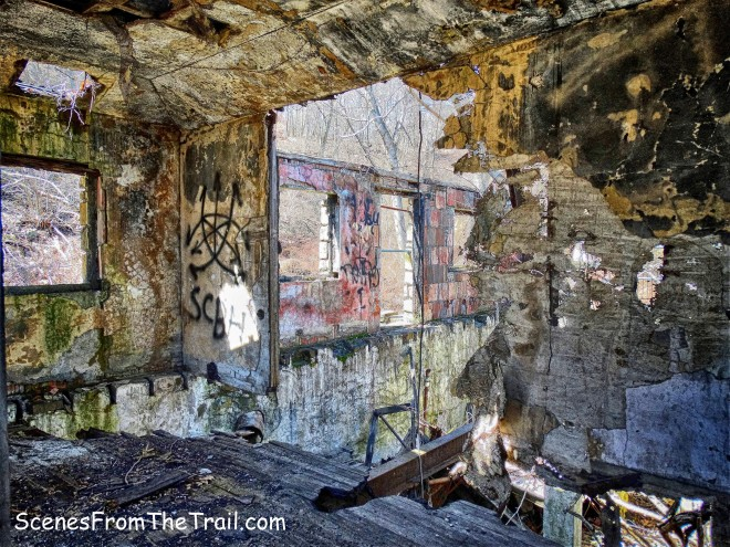 abandoned stone park building