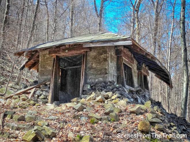 ruins of a small shack