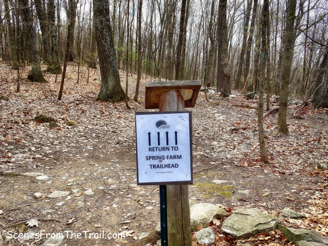 Spring Farm Trailhead sign