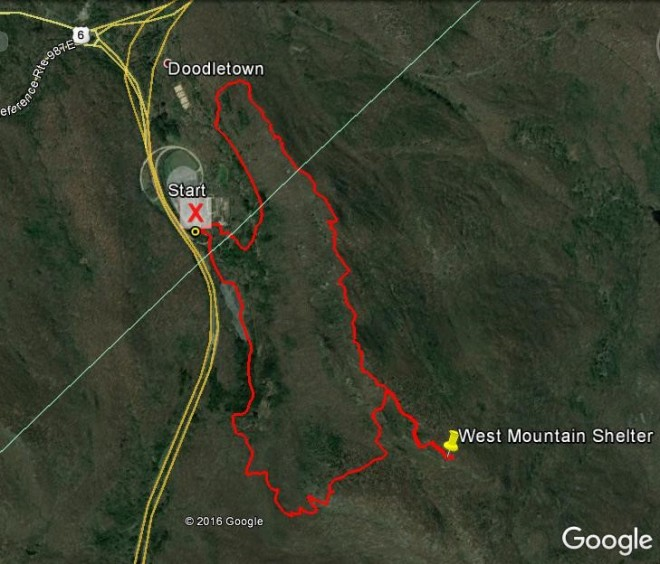 West Mountain hike route