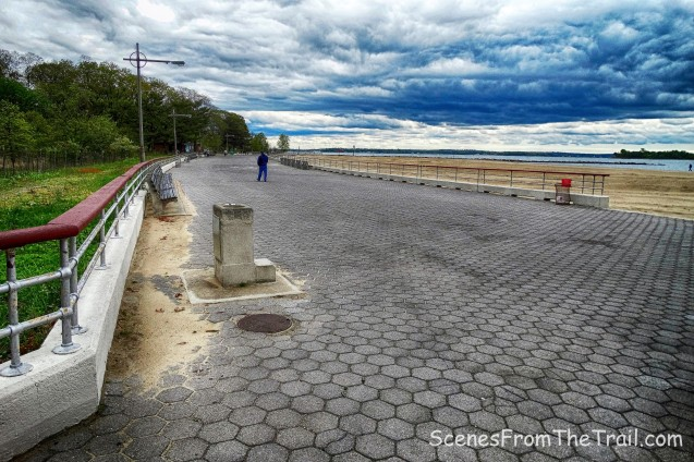 Orchard Beach hexagonal-block promenade