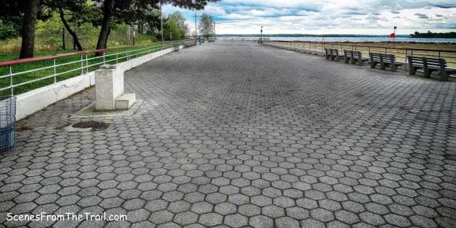 Orchard Beach hexagonal-block promenade