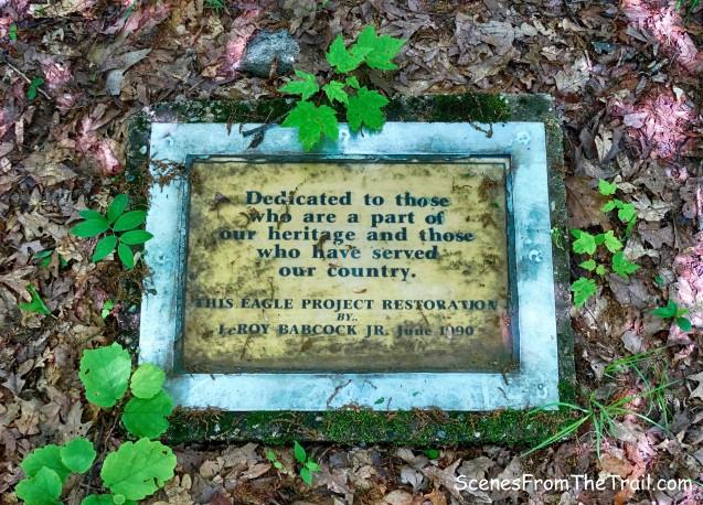 cemetery plaque