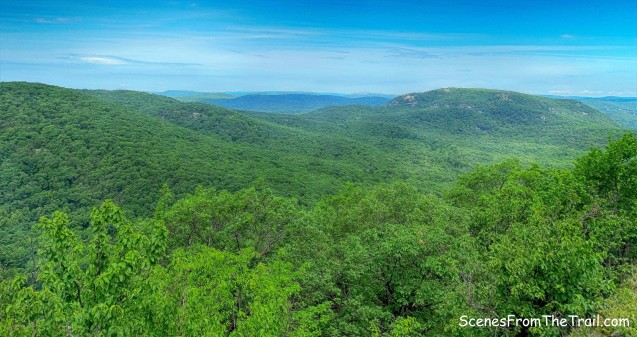 rolling hills of Bear Mountain and Harriman State Parks