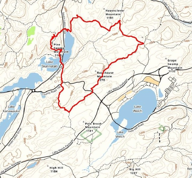 Lake Askoti and Pine Swamp Mountain Loop
