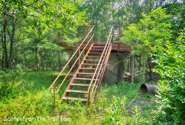 rusty steel platform