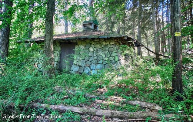 abandoned stone comfort station
