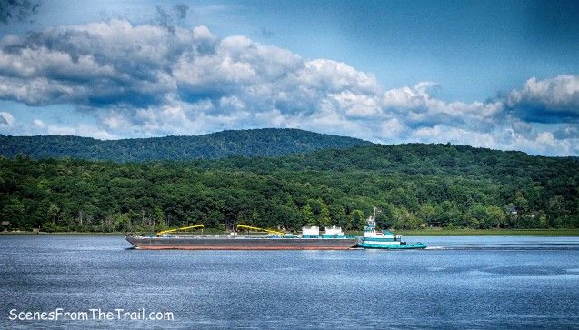 barge on the Hudson River