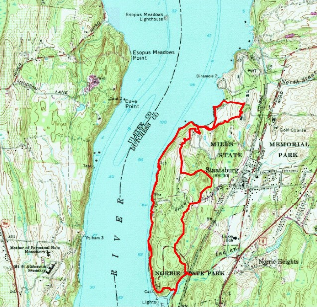 Mills State Park - hike route