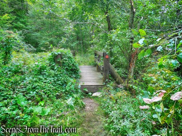 second wooden footbridge