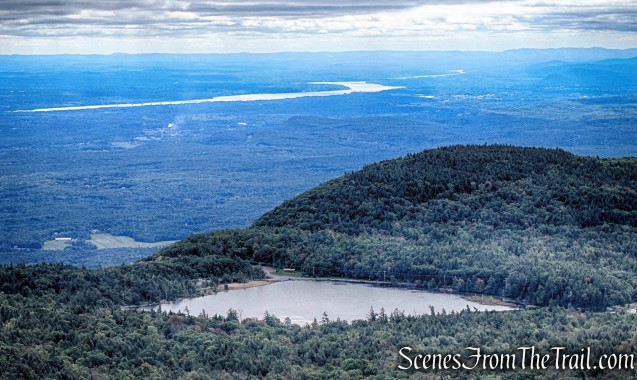 view of North Lake and the Hudson River from North Mountain Ledge