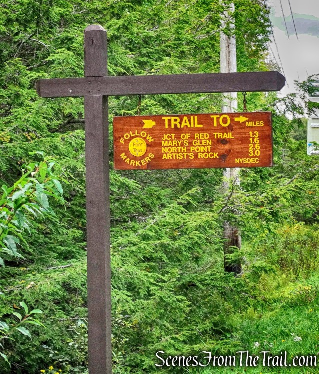 North Lake Road trail sign