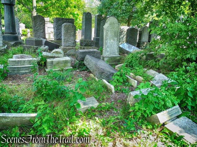 toppled tombstones