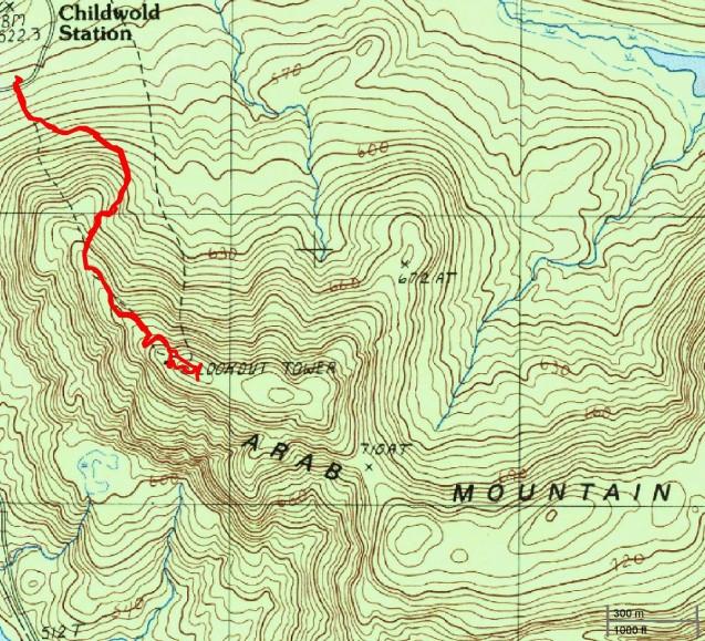Mount Arab hike route