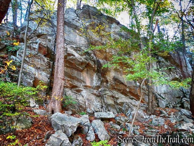 Imposing cliff - John Burroughs Nature Sanctuary