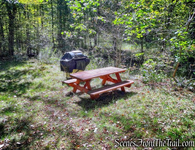 picnic table and a grill - Bouchoux Brook Trail Extension