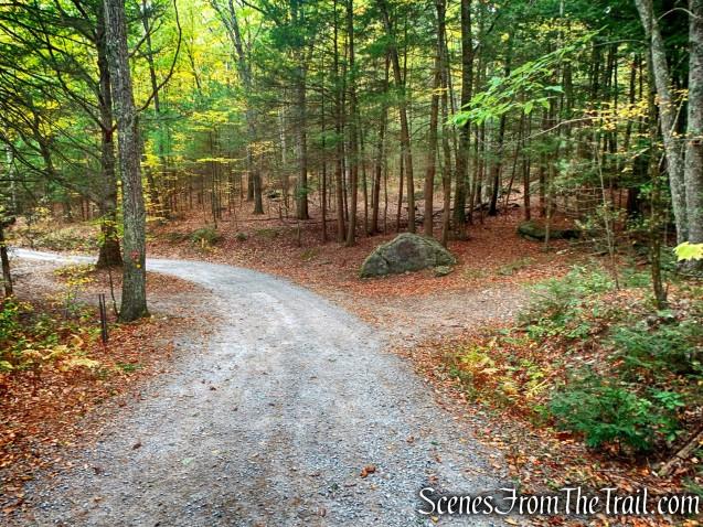 Tusten Mountain Trail turns right