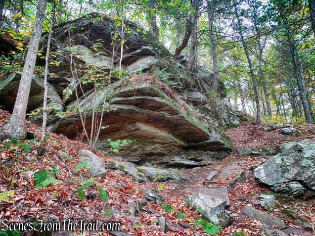 rock formation - Tusten Mountain Trail