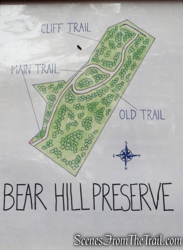 Bear Hill Nature Preserve map