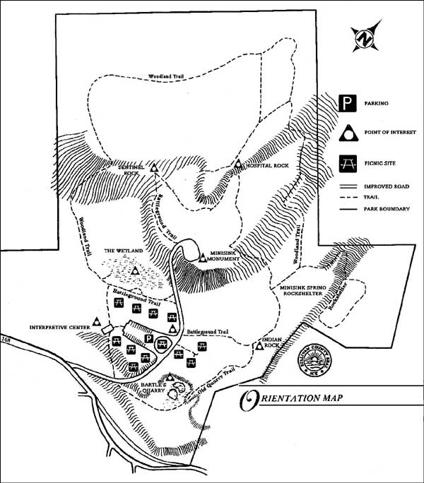 Orientation Map - Minisink Battleground Park