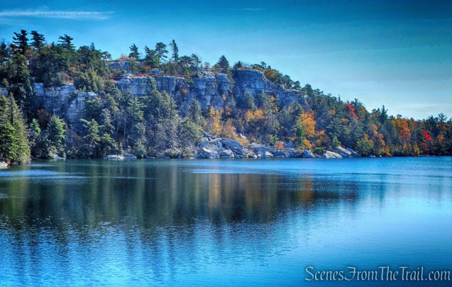 View from rock outcrop - Lake Minnewaska Carriage Road