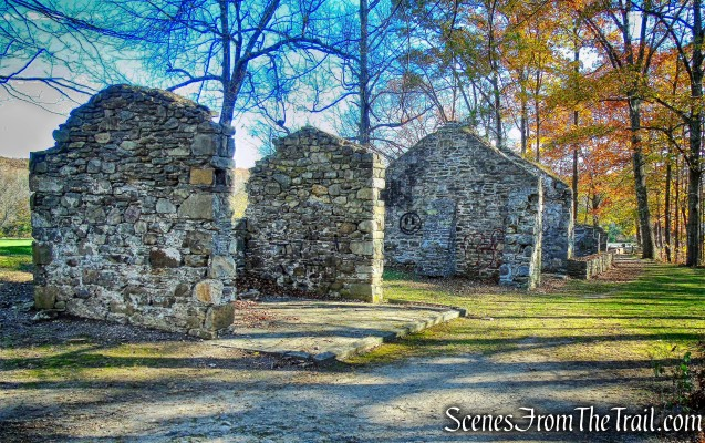 ruined stone buildings - Algonquin Park