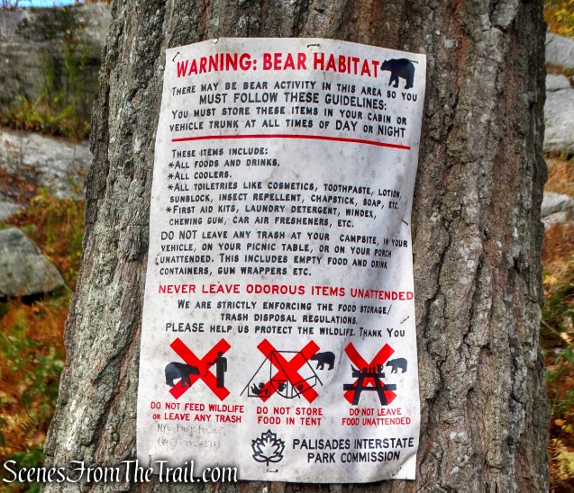 Bear warning - Fingerboard Shelter