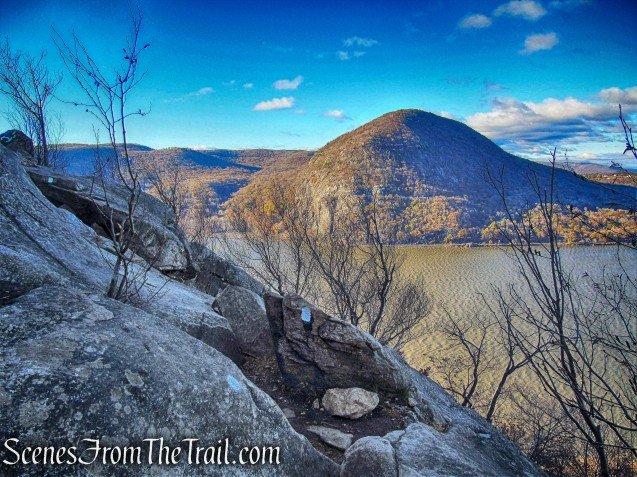 Storm King Mountain and Hudson River as viewed from the Breakneck Ridge Trail