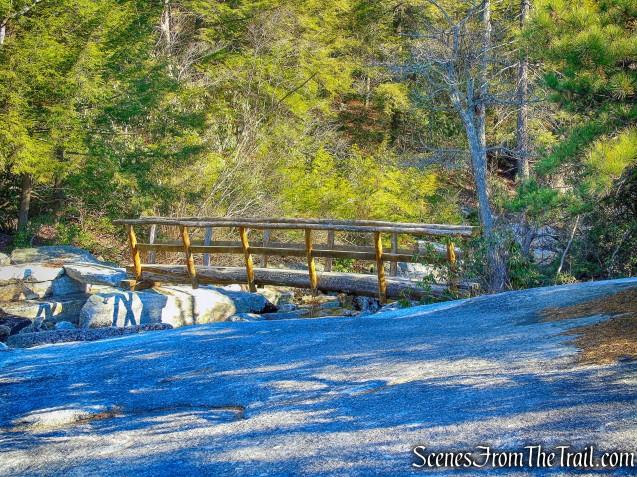 log footbridge - Blueberry Run Footpath