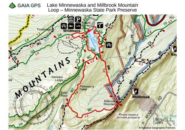 Lake Minnewaska and Millbrook Mountain Loop