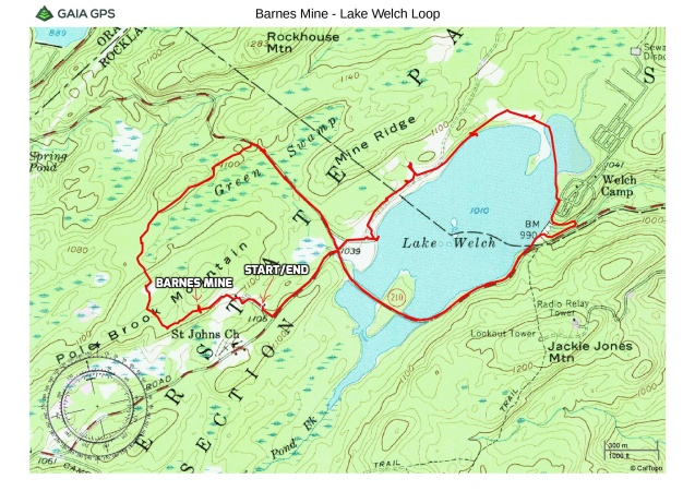 Barnes Mine and Lake Welch Loop