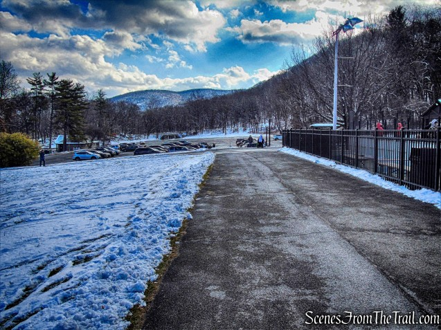 skating rink parking area - Bear Mountain State Park