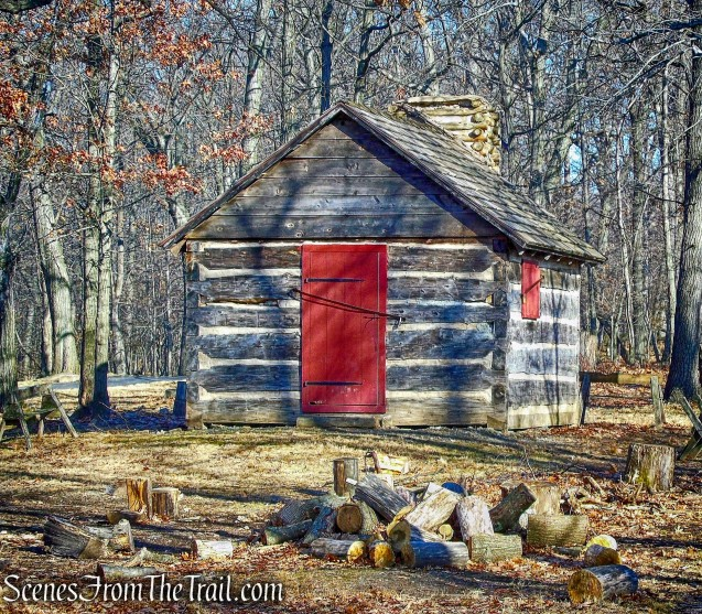 soldier's hut - Fort Lee Historic Park