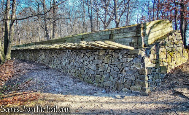 firing steps - Fort Lee Historic Park