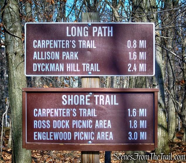 trail sign - Fort Lee Historic Park